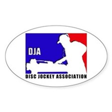 Disc jockey association Oval Decal