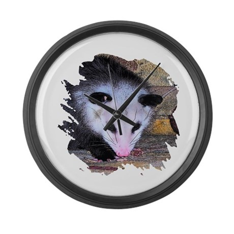 Virginia Opossum Large Wall Clock