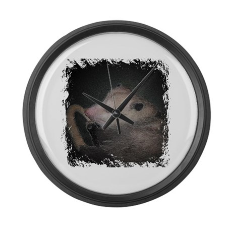 Sleepy Possum Large Wall Clock