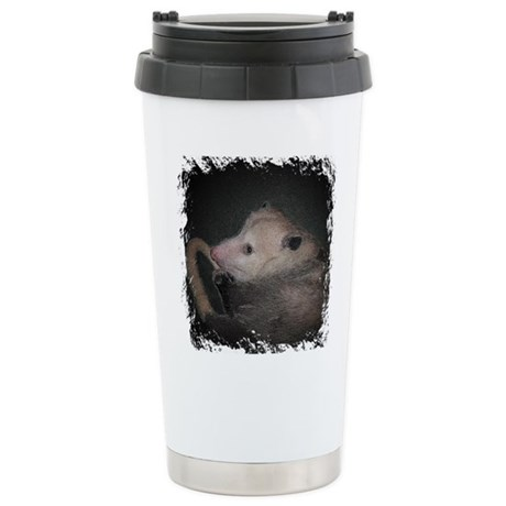 Sleepy Possum Ceramic Travel Mug