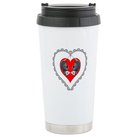 Opossum Valentines Day Heart Ceramic Travel Mug