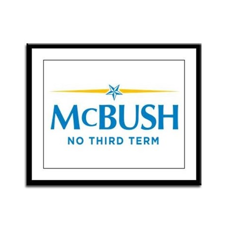 MCBUSH anti McCain Framed Panel Print