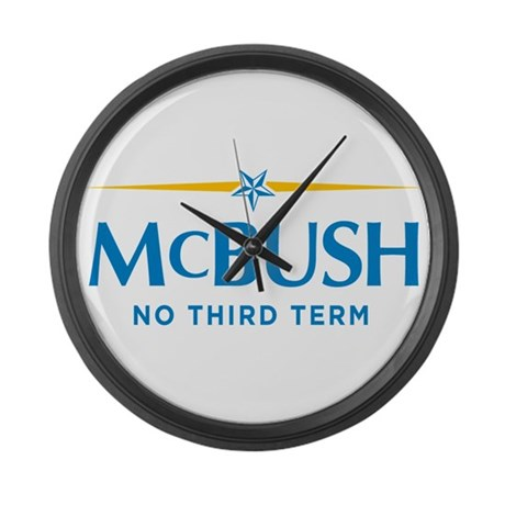 MCBUSH anti McCain Large Wall Clock
