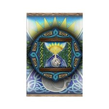 Celtic Sun-Moon Hourglass Rectangle Magnet (100 pa