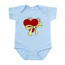 2 Hearts & Yellow Ribbon Infant Bodysuit