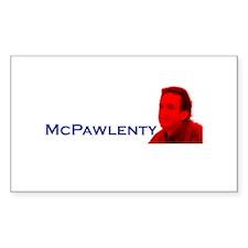 McPawlenty Rectangle Decal