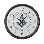 Taking Good Men Masonic Large Wall Clock