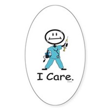 BusyBodies Nurse Oval Decal