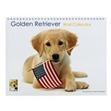 SNAPshotz Golden Retriever Puppy Wall Calendar