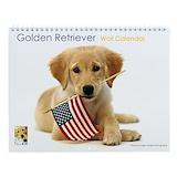 Golden retriever calendar Wall Calendars