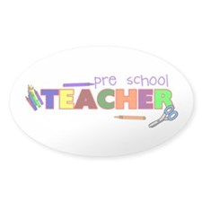 Pre-School Teacher Oval Decal