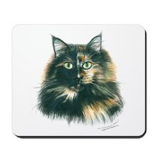 Tortoiseshell Maine Coon Cat Mousepad