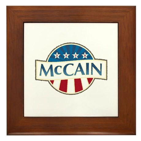 McCain Stars & Stripes Framed Tile