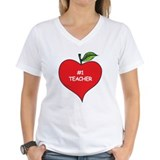 Heart Apple #1 Teacher Shirt