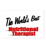 """The World's Best Nutritional Therapist"" Postcards"