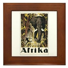 Africa Elephant Framed Tile