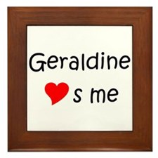 Name geraldine Framed Tile