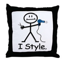 BusyBodies Hairstylist Throw Pillow
