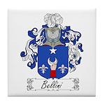 Bellini Family Crest Tile Coaster