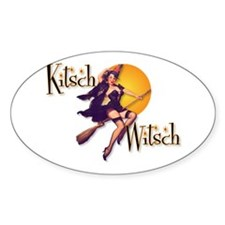 The Kitsch Witsch (broom) Oval Decal