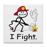 BusyBodies Firefighter Tile Coaster