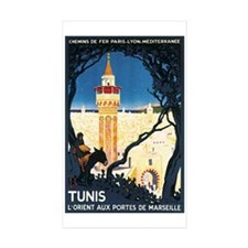 Tunis Tunisia Rectangle Sticker 10 pk)