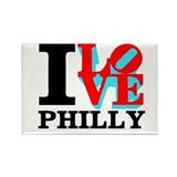Cute I love philadelphia Rectangle Magnet