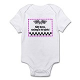 Silly Boys, Racing Is For Girls! Infant Bodysuit