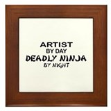Artist Deadly Ninja by Night Framed Tile