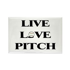 Live Love Pitch Rectangle Magnet (100 pack)