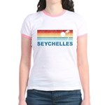 Retro Palm Tree Seychelles Jr. Ringer T-Shirt