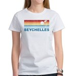 Retro Palm Tree Seychelles Women's T-Shirt