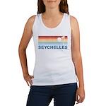 Retro Palm Tree Seychelles Women's Tank Top