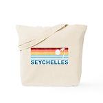 Retro Palm Tree Seychelles Tote Bag