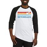 Retro Palm Tree Seychelles Baseball Jersey