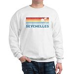 Retro Palm Tree Seychelles Sweatshirt