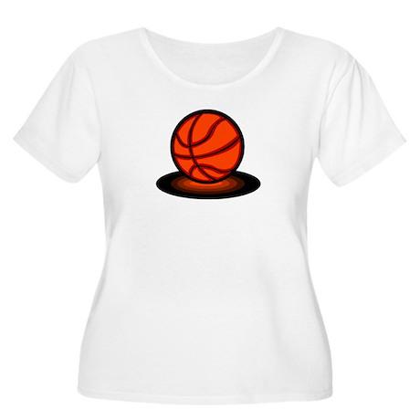 Basketball Women's Plus Size Scoop Neck T-Shirt