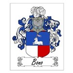 Bono Family Crest Small Poster