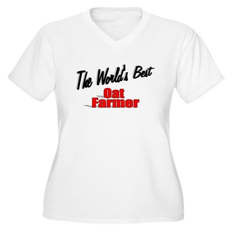 """The World's Best Oat Farmer"" Women's Plus Size V-"