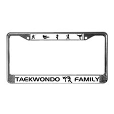 Tekwondo Family License Plate Frame