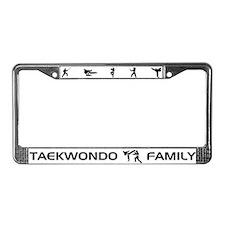 Tekwondo Family License Plate Frame