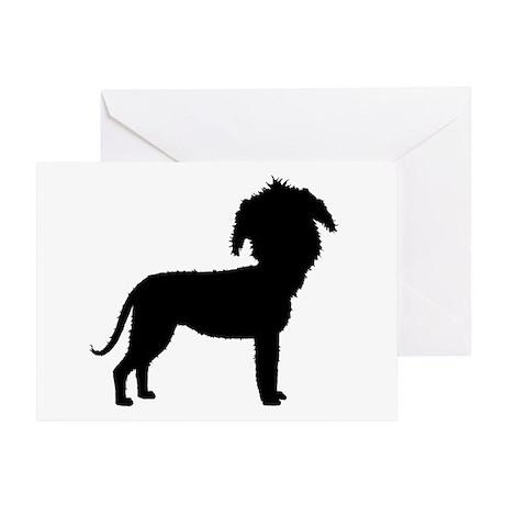 Funny Cute Irish Wolfhound Greeting Card