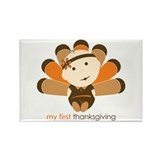 First Thanksgiving Baby Rectangle Magnet (100 pack