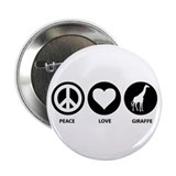 "Love Peace Giraffe 2.25"" Button"