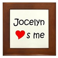 Cool Jocelyn name Framed Tile