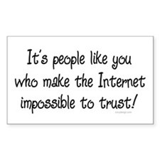 Internet trust Rectangle Decal