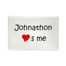 Johnathon name Rectangle Magnet