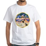 XmasStar/German Shepherd #13B White T-Shirt