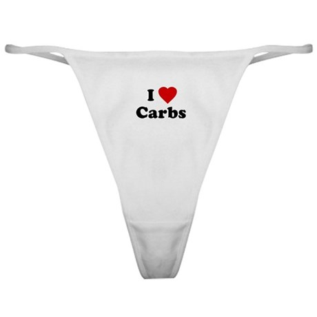 I Love [Heart] Carbs Classic Thong