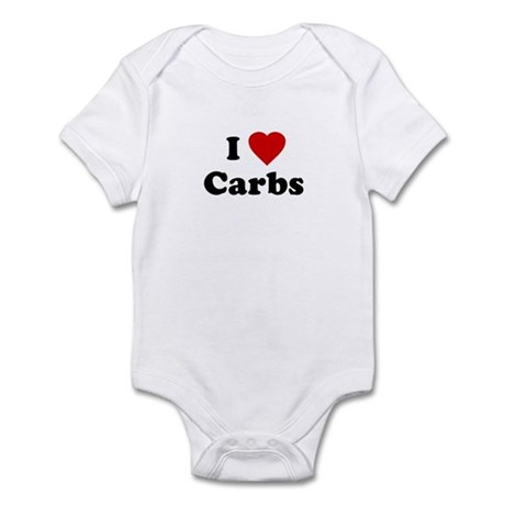 I Love [Heart] Carbs Infant Creeper